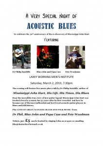 MJH acoustic blues night poster