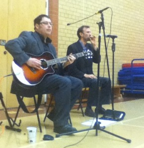 John and Tim at Laxey School 190313 - Copy