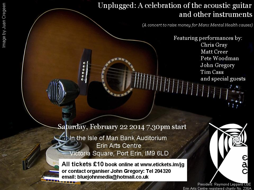 Unplugged concert poster